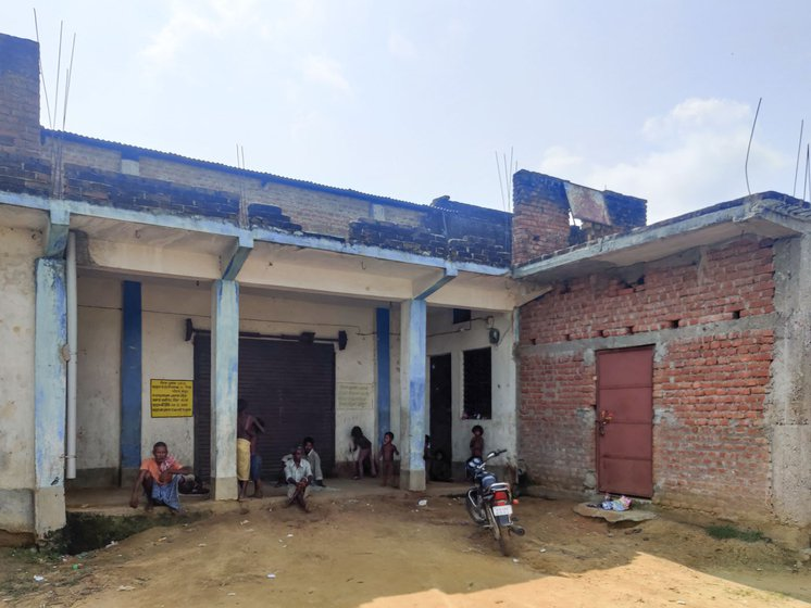 A locked Primary Agriculture Credit Society (PACS) centre in Khapura, where farmers can sell their paddy. Procurement by the PACS centres has been low in Bihar