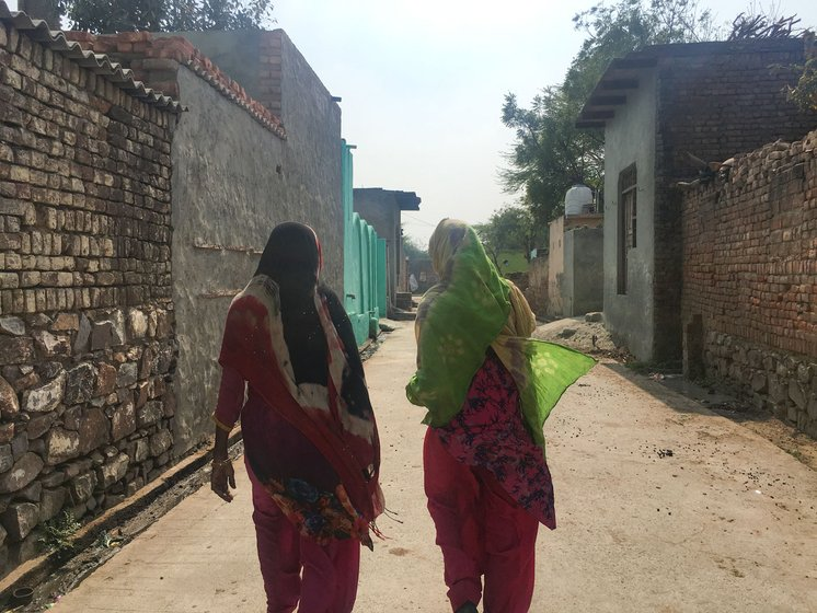 Bahar (left): 'People say it happened because it was our destiny. But we blame the hills'. Faaiza (right) 'One [child] barely learnt to sit, and I had another'