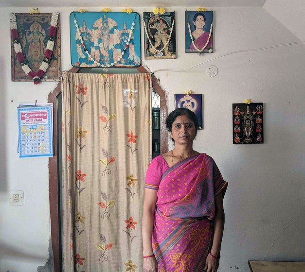 A woman at her home in Kurnool