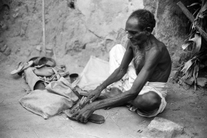 Dalit leather worker in Ramnad