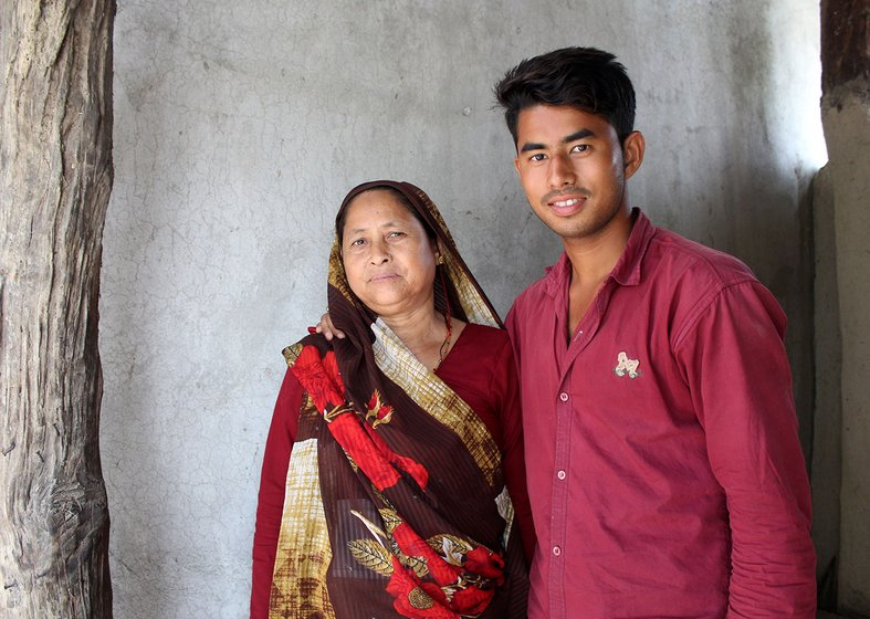 Kamla Devi with her son Keshav