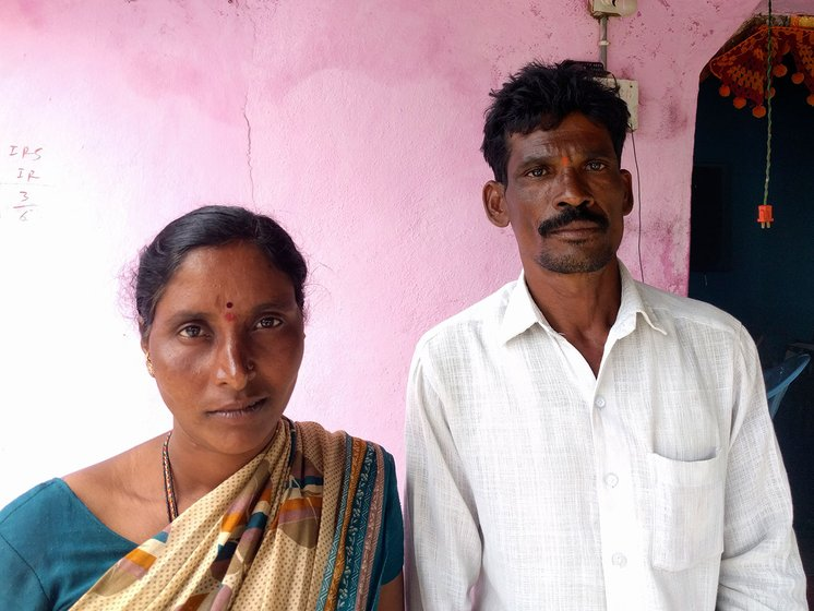 Left: Mentham Pentamma  and Mentham Suresh of Syedpur village were hoping to fund their daughter's education with the profit from the cotton harvest, but lost their entire crop.