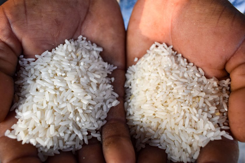 'Some are eating relief rice mixed with rice bought in the market', says Ramulu; while with unsold baskets piling, it is not clear if their prices will remain the same