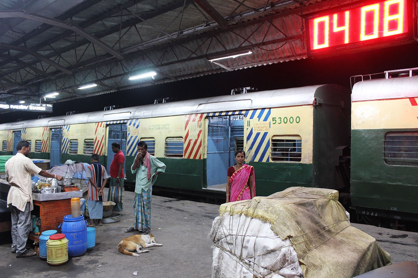 Breshpati Sardar at Canning railway station in the morning