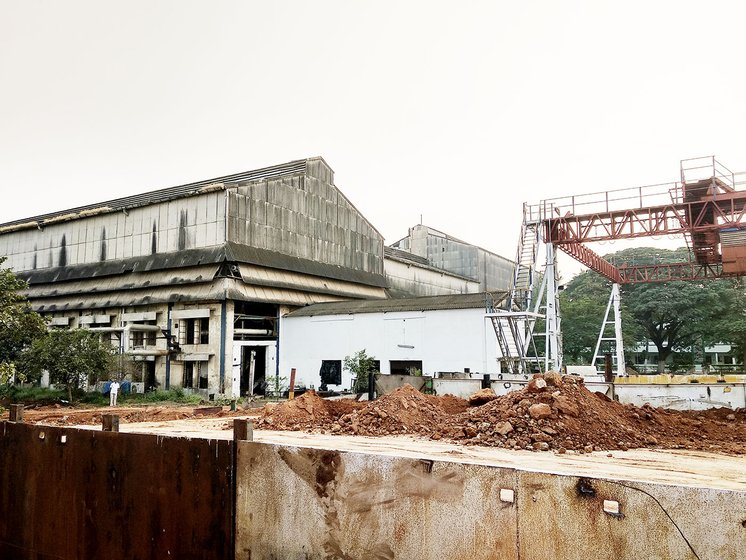The Delta Sugars factory. Work halted inside the sugar mill