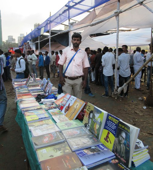 Shaikh at his book stall