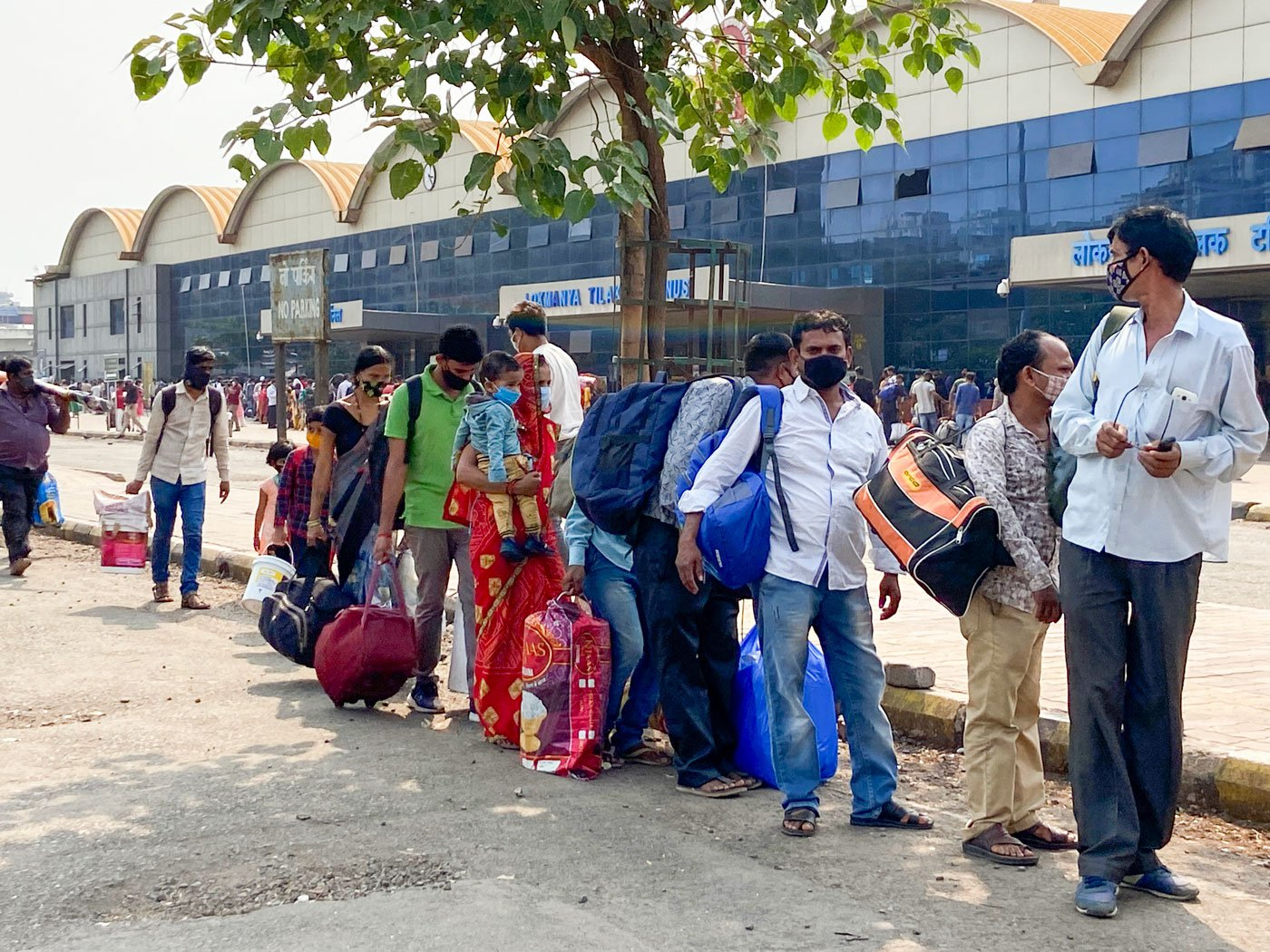 The rush at the Lokmanya Tilak Terminus and Bandra Terminus, from where several trains leave for Uttar Pradesh and Bihar, began a few days before the state government's renewed restrictions were expected to be rolled out