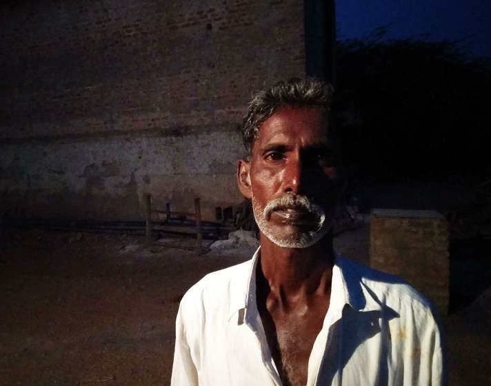 a portrait of a Dalit farmer