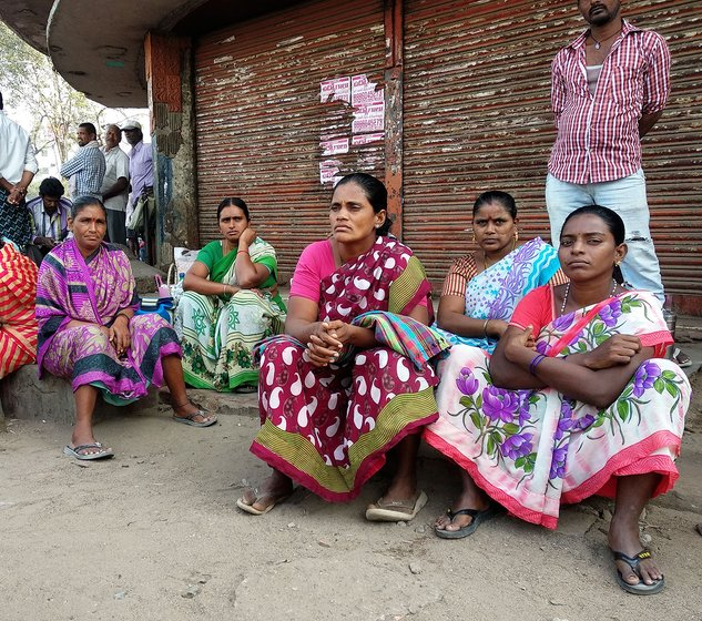 Migrant daily wage women labourers from Kankipadu