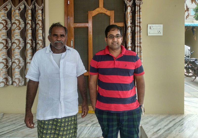 Nagamalleswara Rao with his US returned son, Tirupathi Rao.
