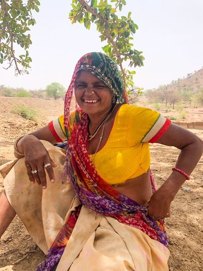 At MGNREGA work sites: 'I've never been put on water duty, because I belong to a lower caste', says Gita Khatik