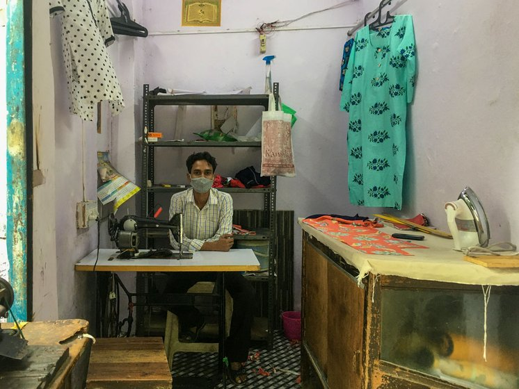 In March, Rukhsana's husband Mohammed Wakil had opened a tailoring shop in Delhi. Now, he is struggling to re-start work