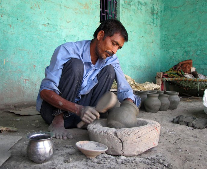 Sudama shaping the pot
