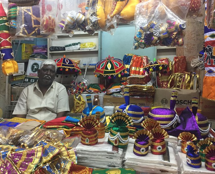 G. Muthu Pandi at his shop