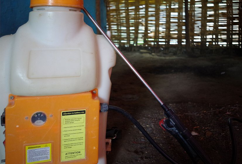Pump used to spray pesticide