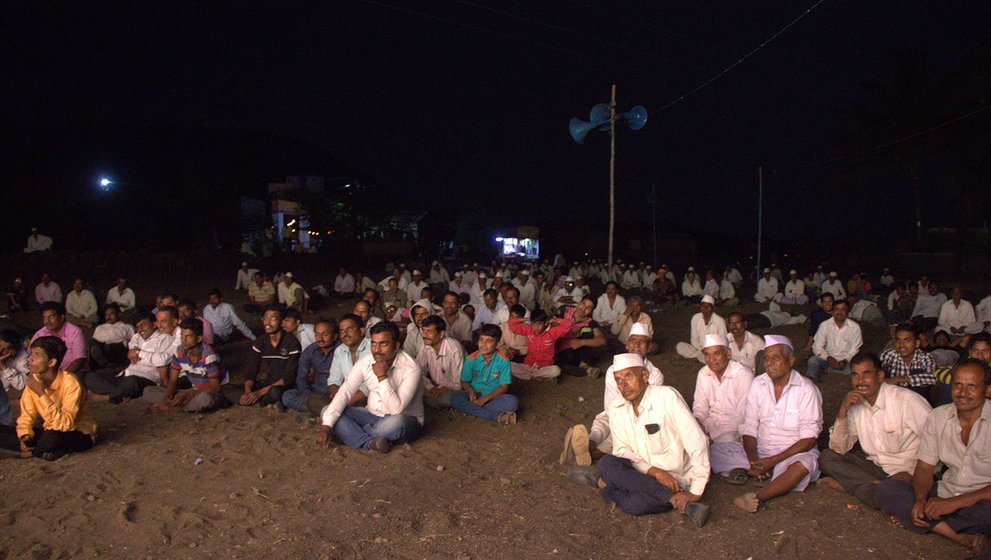 The audience in Gogolwadi village, Pune district