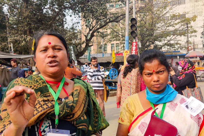 Namita Halder (left) believes that the three laws will very severely impact women farmers, tenant farmers and farm labourers,