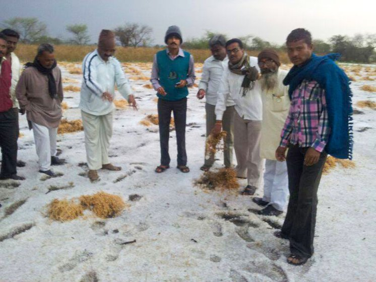 2014 hailstorm damage from the same belt of Latur mentioned in the story