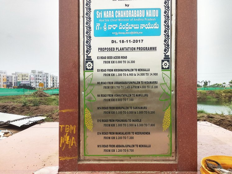 Foundation stone for plantation of trees across the roads in the capital city