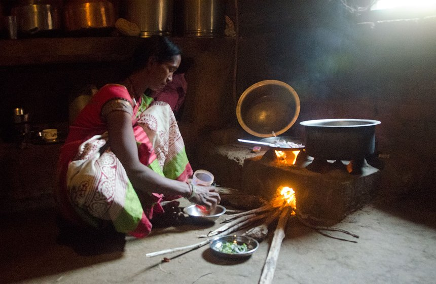 Tulshi cooking at home