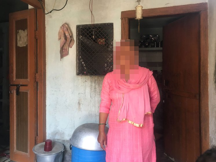 Sana Khan washing dishes in her home; she wanted to be a teacher after her degree in Education. 'Women have no option but to make adjustments', she says