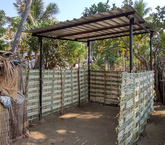 Temporary sheds given by Visakhapatnam Steel Plant Employees Union