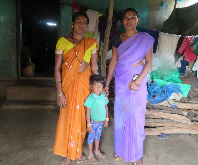 Yashodha (left), and her daughter, with Chandrakala