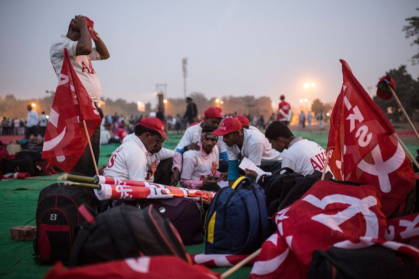 Farmers at Ramlila Maidan