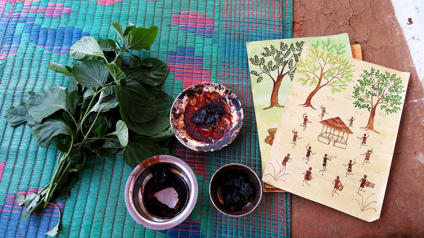 natural dyes and painings