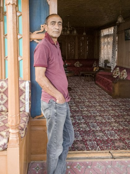 'Everything is in loss, even the property is rotting away,' Abdul Rashid Badyari says, referring to his ornate houseboat