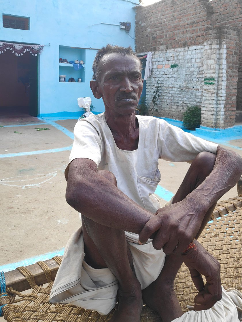 Umro Kushwaha in his house