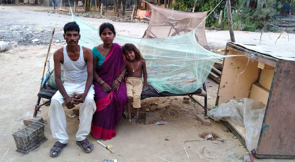 Ram Parvesh with his wife and daughter at Ram Ghat, speaks of the many nearly extinct fish varieties