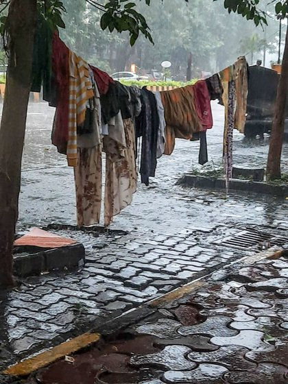 Meena and her family are used to seeing their sparse belongings float away every monsoon
