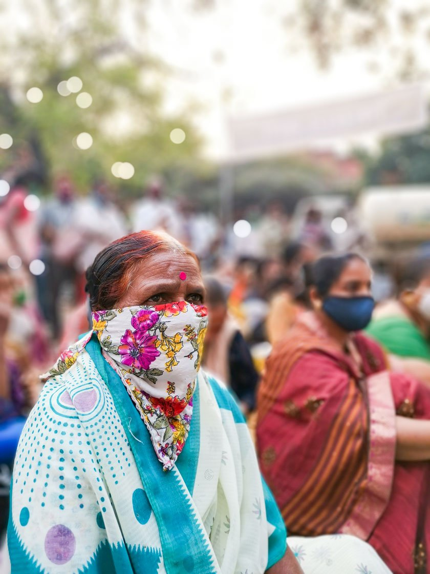 Loan waivers for women in suicide-impacted families was one of the demands voiced at the protest. The farmers also highlighted the need for a strong and universal public distribution system (PDS).