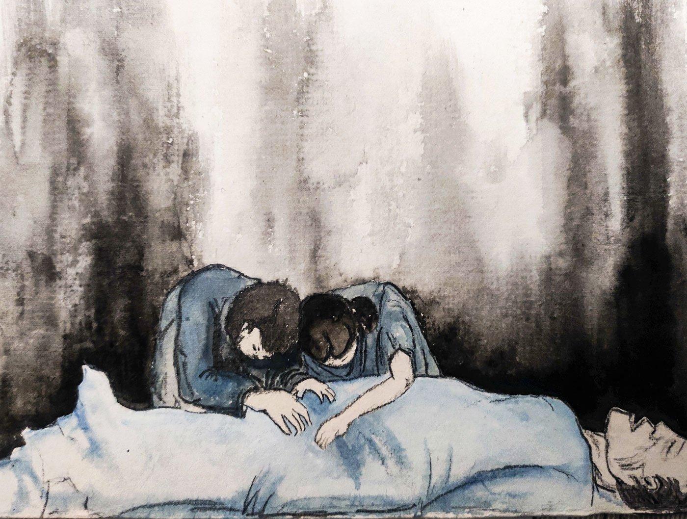 Tasleem tasleem in a poor man's cloud —Drop a pin, tahsin, like a sanitary shroud.