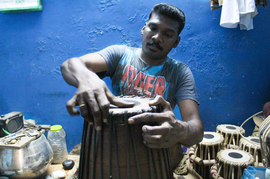 The mridangam makers of Mylapore