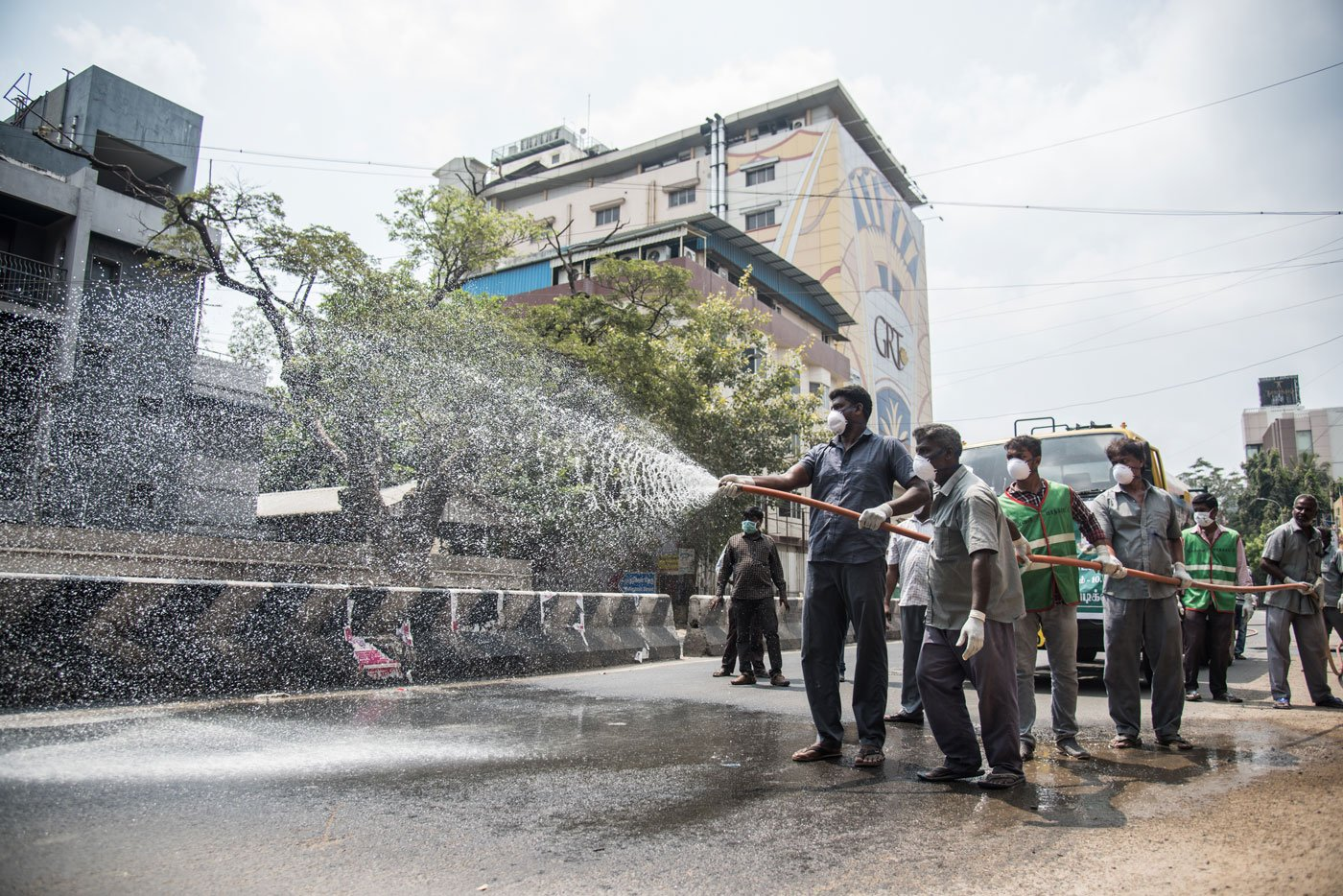The cleaning of different streets in T. Nagar continues