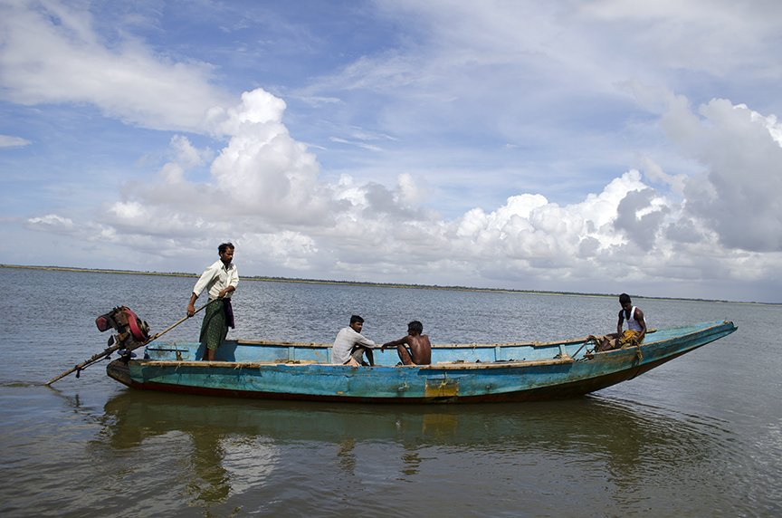 Swimming to migrate in Odisha