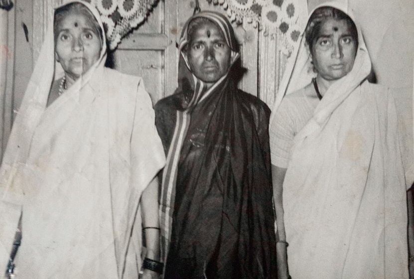 Hausabai and her father Nana Patil
