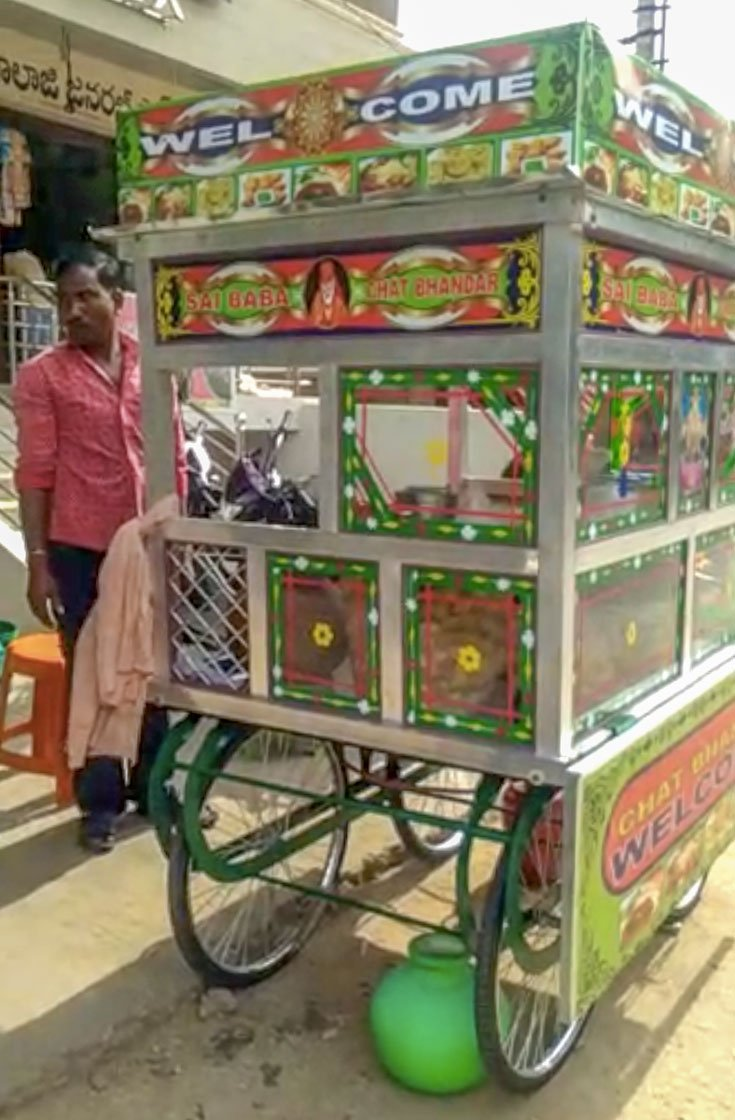 Birendra Singh and his wife Ramdekali ran three paani puri carts in Kalikiri village of Andhra's Chittoor district