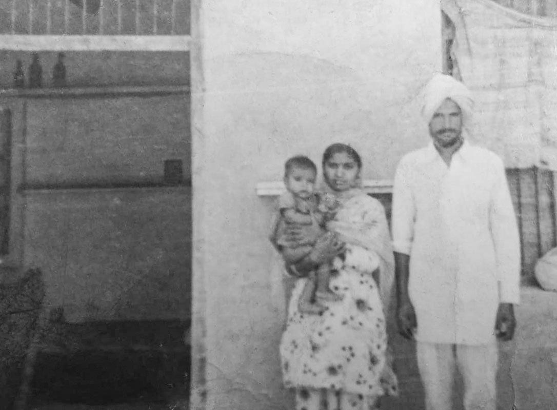 Bhagat Singh with his wife Gurdev Kaur and eldest son  Jasveer Singh in 1965.