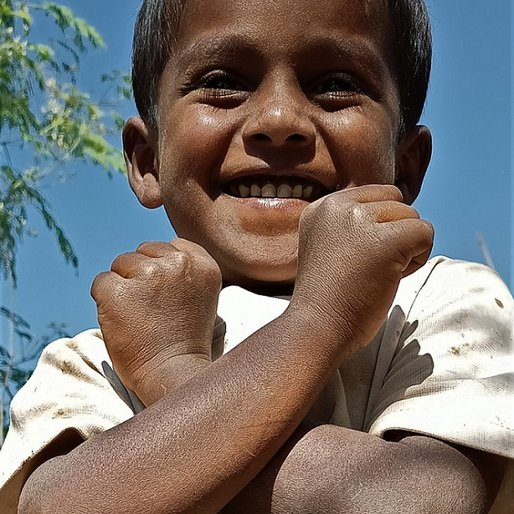 Aadesh Shinde is a Student at the local <em>anganwadi</em> from Diksal, Karjat, Ahmadnagar, Maharashtra