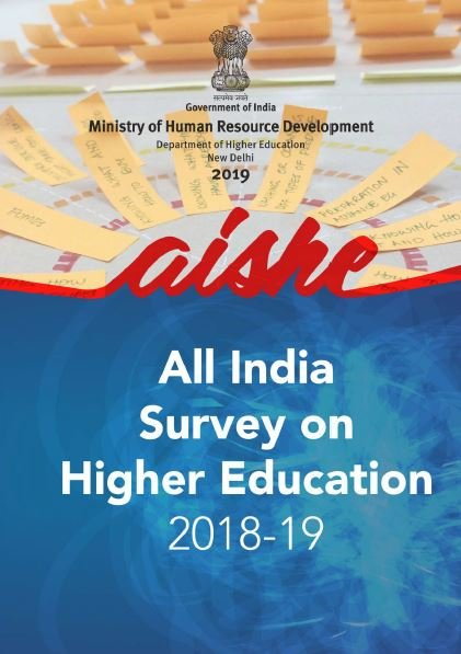 All India Survey on Higher Education, 2018-19