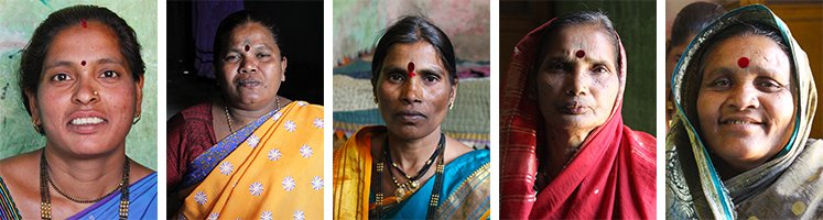 Portraits of 5 women