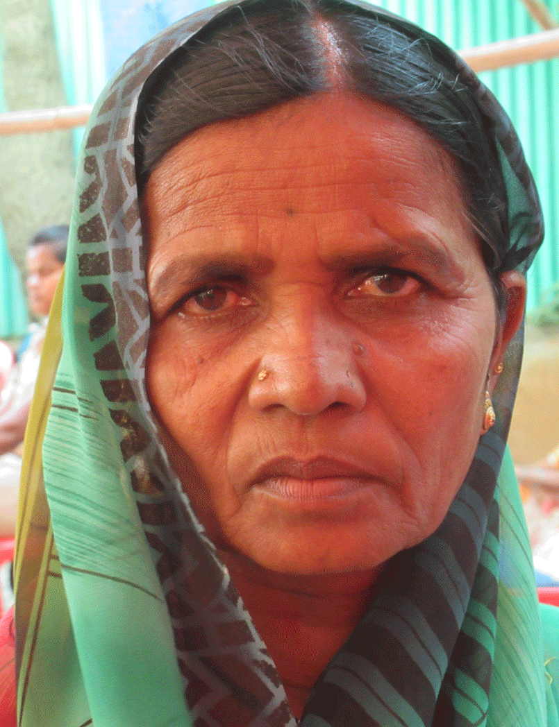 Close-up of old woman