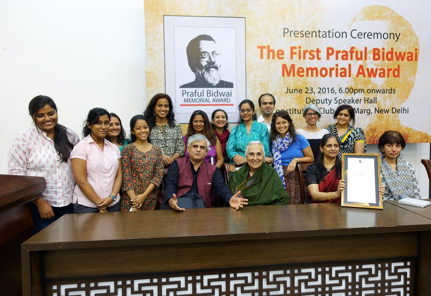 Team PARI at the the first Praful Bidwai Memorial Award for journalism