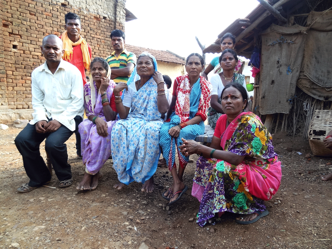 Ramabai Gedam (centre) in Murmadi, Chandrapur. Her husband Mahadev was the second victim of tiger attacks in two months in this village