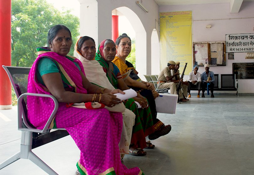 Women sitting at district office