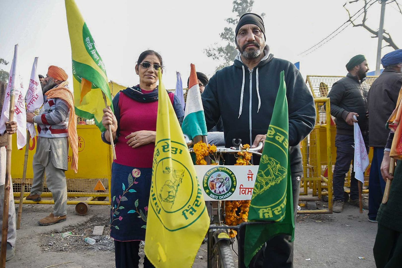 Ramesh Kumar cycled from Punjab's Hoshiarpur to the farmers' protest site in Singhu to participate in the Republic Day farmers' parade on January 26