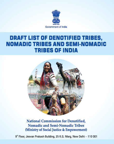 Draft List of Denotified Tribes, Nomadic Tribes and Semi-Nomadic Tribes of India